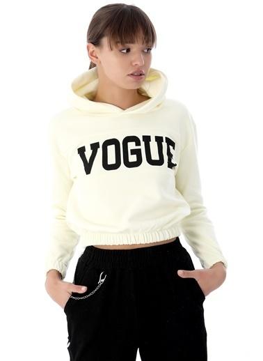 Emjey Vogue Baskılı Sweat Sarı